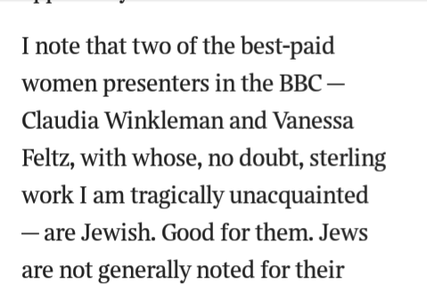 Sunday Times sacks Kevin Myers over comments on Jewish BBC presenters
